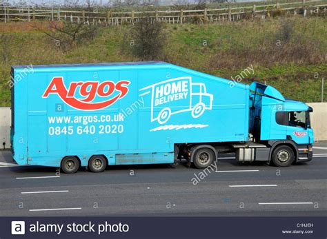argos home delivery advert on side of articulated trailer