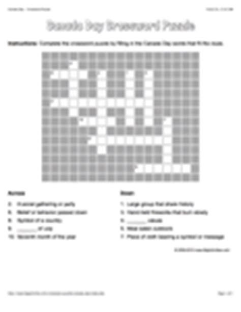 easy crossword puzzles canada canada day medium word search fireworks