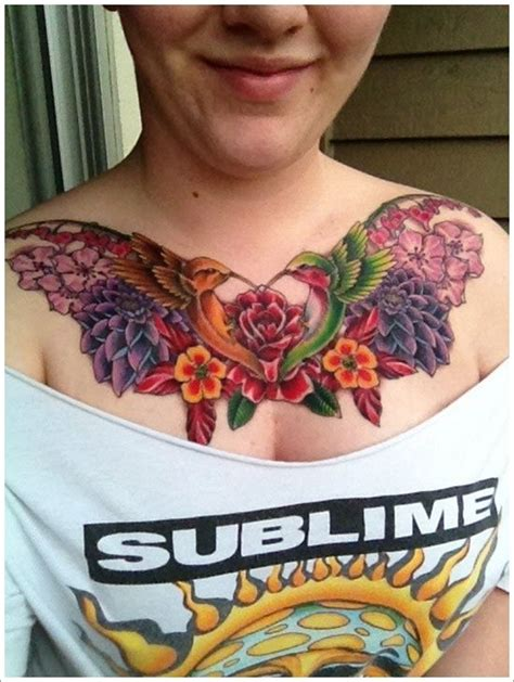 tattoo on your chest issues flower hummingbird tattoo designs and meaning for women on