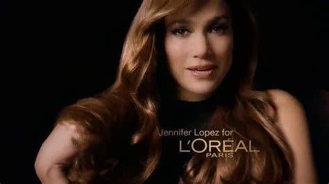 actress in tv commercials hair color jennifer lopez l39oreal paris 39making of39 video modtv of