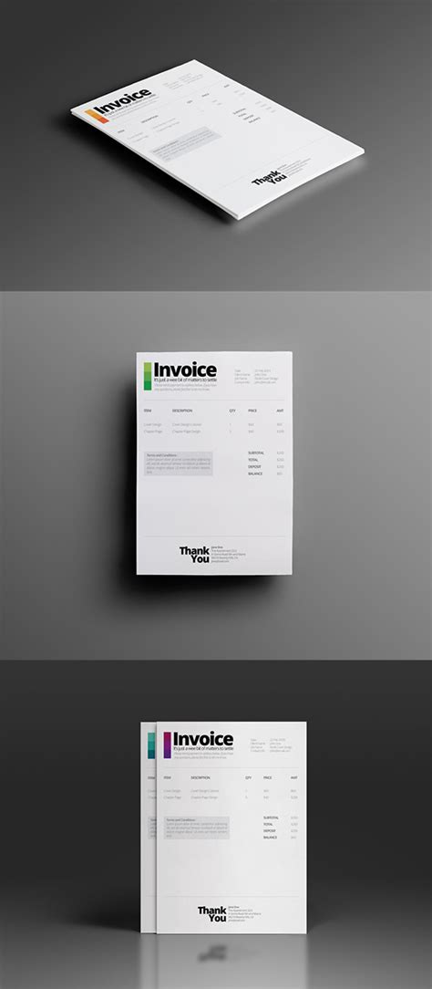 invoice template for adobe illustrator ultra minimalist quotation invoice template on behance
