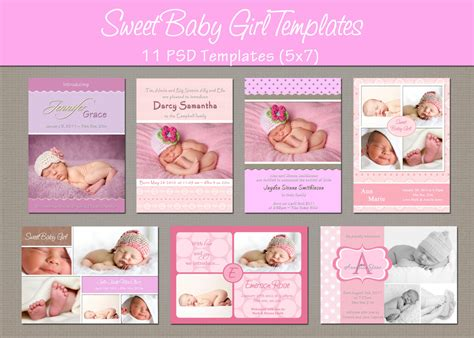 baby announcements templates free instant birth announcement by whimsicalcreationspc