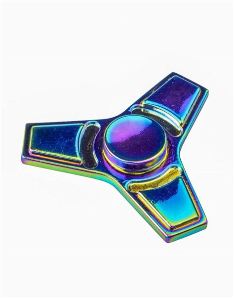 Metal Fidget Spinner Awer sirius toys colourful metal fidget spinner rainbow electroplating metal colourful metal