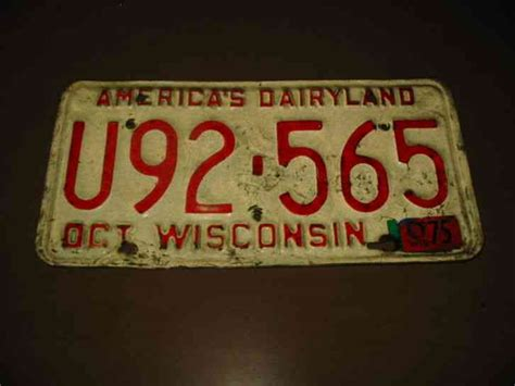 Wisconsin Vanity Plate Availability by 1965 Wisconsin License Plate