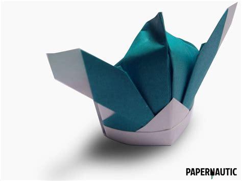 Hat Origami - samurai hat origami design papernautic