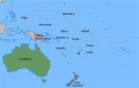oceania map with country names test your geography knowledge oceania countries quiz