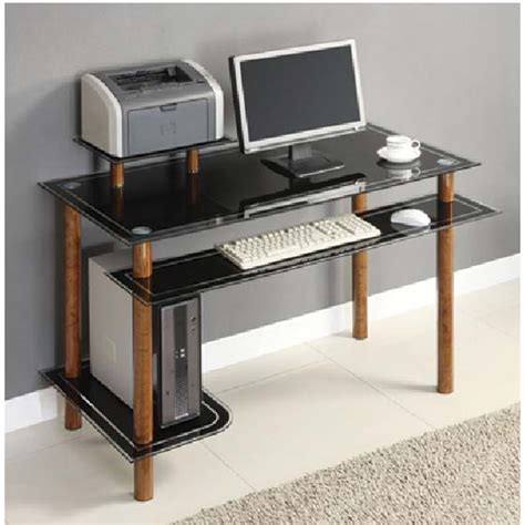 innovex glass computer desk black innovex black glass computer desk with shelves bird s eye