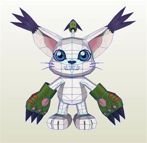 Digimon Papercraft - gatomon digimon papercraft by antyyypapercrafts on etsy
