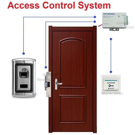 Door Access Systems by Fingerprint Door Access System Kit Strike Lock