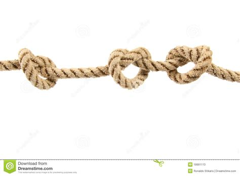 la rope rope with three knots stock photos image 18991113