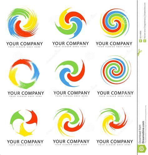 swirl logo pattern swirl logo collection stock vector illustration of design