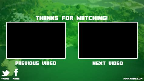 Minecraft Youtube Outro Free By Saiverx On Deviantart Outros Templates