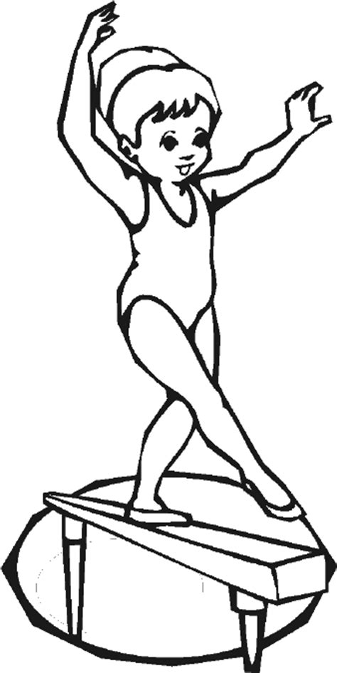 coloring pages gymnastics gymnastics coloring