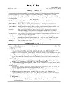 Resume Statement Examples The Most Personal Statement For Resume Resume Template
