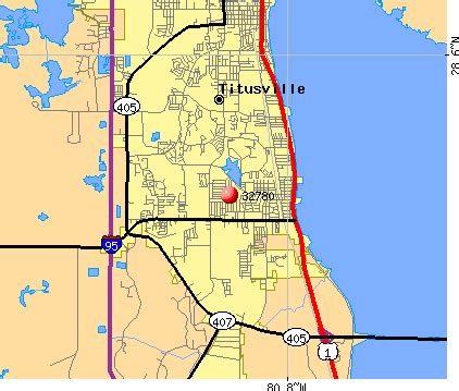 where is titusville florida on a map map 32780 zip code titusville florida profile homes