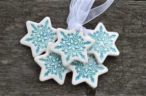 ceramic christmas tree decoration by isla clay