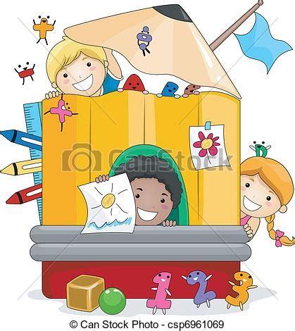 imagenes niños de preescolar eps vectores de ni 241 os juego preescolar ilustraci 243 n de