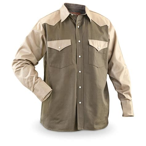 Two Tone Sleeved Shirt two tone western sleeved cotton shirt 580143