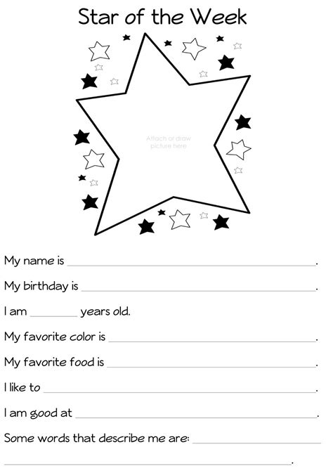 student of the week template 6 best images of student all about me printable all