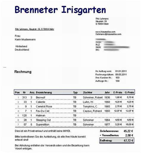 Rechnung Kleinunternehmen Ohne Mwst Irisdatenbank