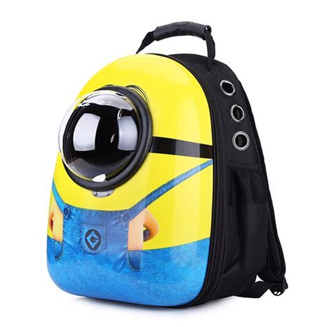 minions small pet backpack carrier cat travel bags shoulder puppy mobile airplane carrier