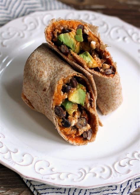 lot of breakfast burritos out there we plan to try a lot of them healthy sweet potato black bean breakfast burritos