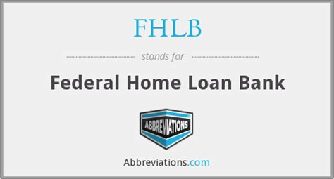 fhlb federal home loan bank