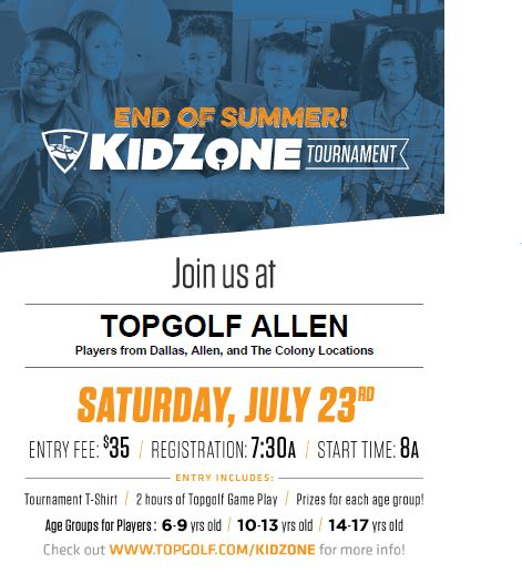 Top Golf Gift Card Target - topgolf s kidzone golf tournament on 7 23 giveaway winners announced my dallas mommy