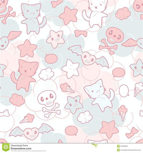 seamless doodle pattern free vector seamless pattern with doodle vector kawaii stock vector