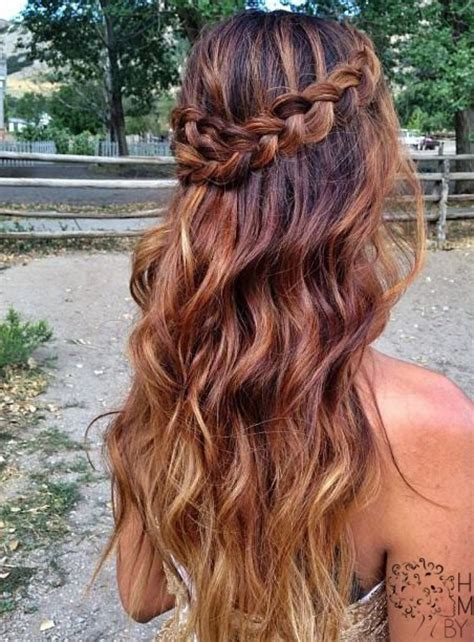prom hairstyles curly hair down long curly hairstyles with braids 3 easy headband braid