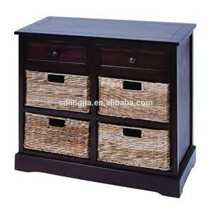 handmade black wood maize basket drawers cabinet kitchen