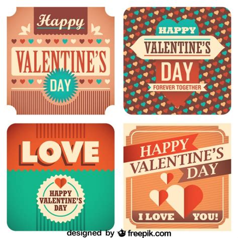 imagenes vintage san valentin valentine s day cards retro collection vector free download