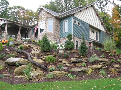 steep front yard landscaping ideas scape idea outdoor home landscaping designs with slopes