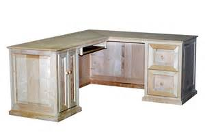 handmade maple l shaped desk by durham bookcases