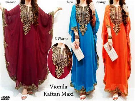 Gemini Maxi Dress Gamis Kaftan kode baju 1089 harga 150 000 idr model pakaian