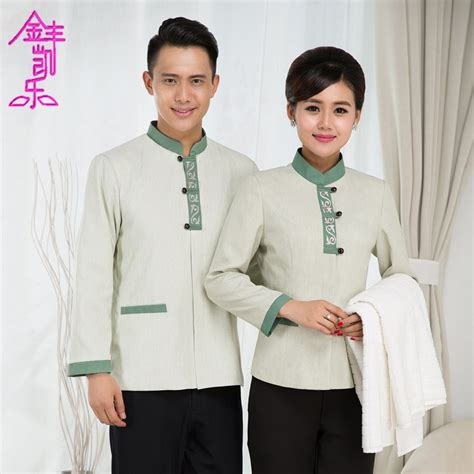 hotel uniform room layout cleaning services long sleeve girl hotel room attendant