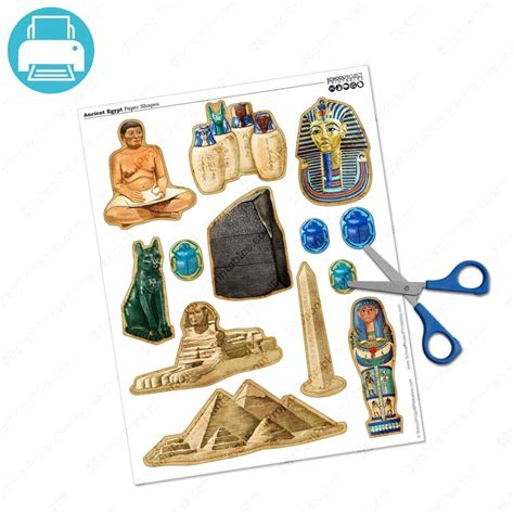 rosetta stone ks2 ancient egypt icons paper shape and projects