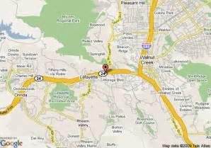lafayette california map map of lafayette park hotel lafayette