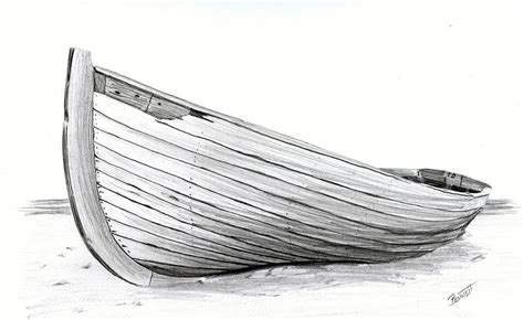 boat on beach drawing abandoned drawing by rick bennett