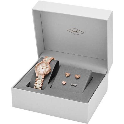 Fossil Tome Set Box Coklat orologio tempo donna fossil virginia box set