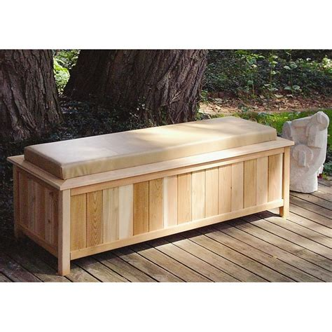 cedar storage bench outdoor make this outdoor storage bench instead of buying it you