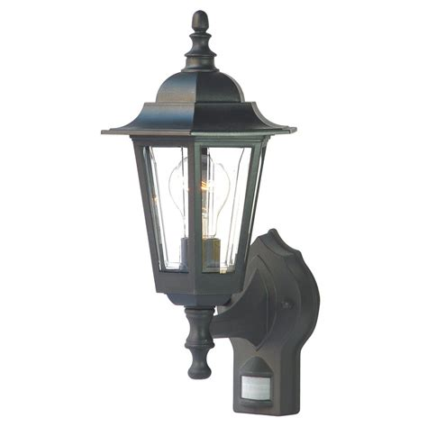 Motion Activated Light Outdoor Shop Acclaim Lighting Tidewater 15 25 In H Matte Black Motion Activated Outdoor Wall Light At