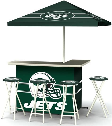 New York Jets Bar Stool by New York Jets Deluxe Portable Tailgate Bar Set