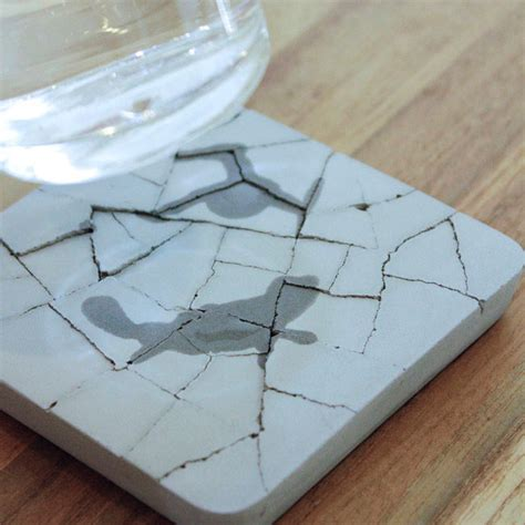 water absorbing water absorbent concrete coaster the green