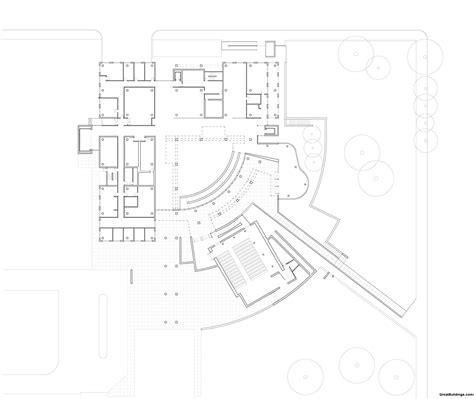 drawing plan great buildings drawing high museum of art