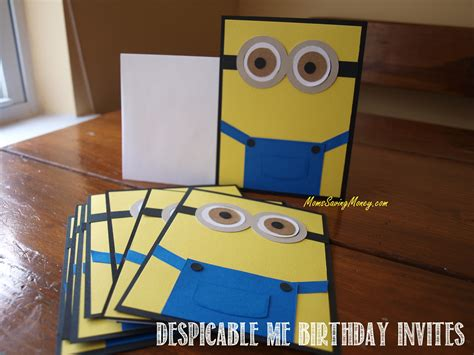 Handmade Minion Invitations - despicable me birthday autry creations
