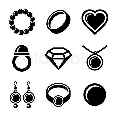 icon design kette schmuck icons vektorgrafik colourbox