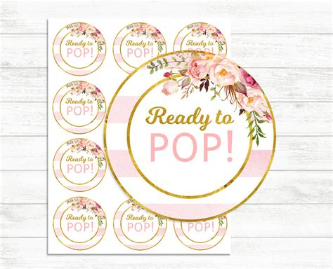 ready to pop template free printable ready to pop stickers pink and gold ready to pop