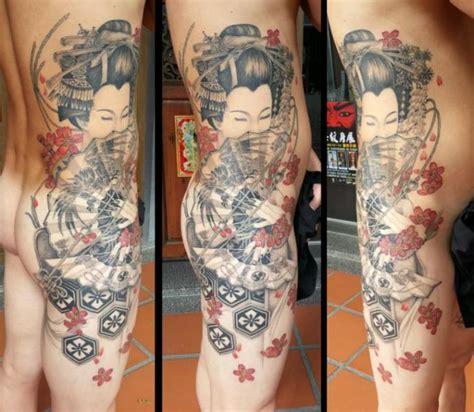 geisha tattoo on side side japanese geisha tattoo by orient soul