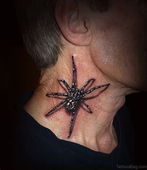 neck tattoo spider 49 snazzy spider tattoos on neck